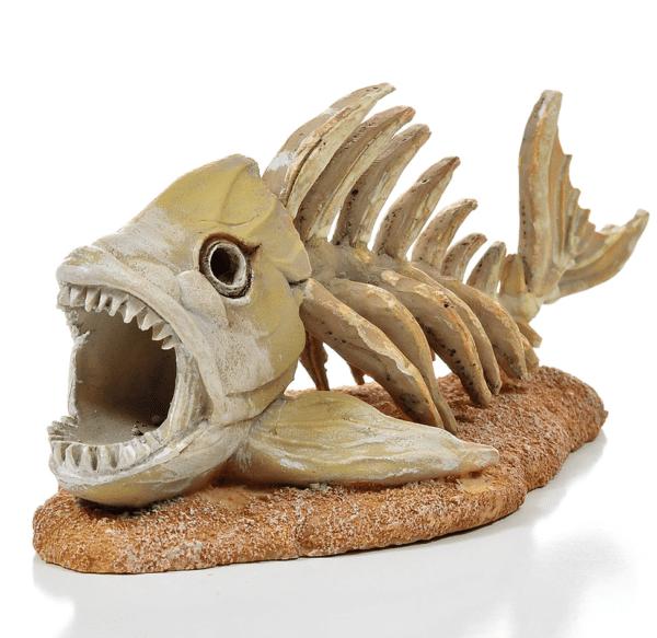 Piranha skelet aquarium decoratie